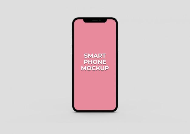 Vista frontal maquete de telefone inteligente