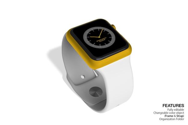 Vista isométrica da maquete smartwatch