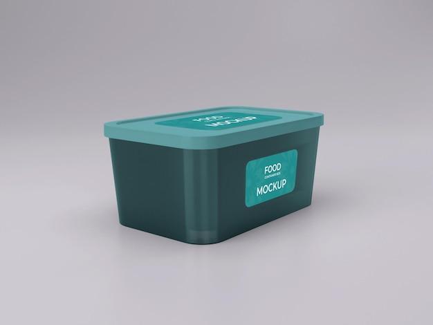 Vista lateral de design de maquete de recipiente de comida personalizável de qualidade premium