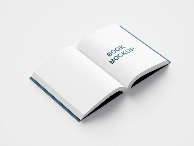 Vista lateral superior da maquete da primeira página do livro