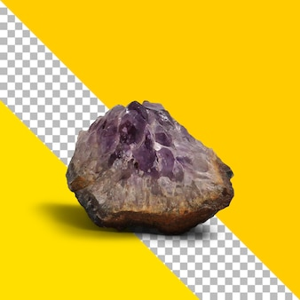 Vista próxima de pedra mineral isolada.