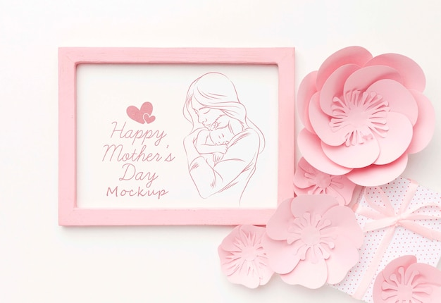 Vista superior conceito de dia das mães