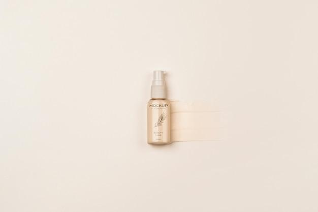 Vista superior da embalagem do produto cosmético