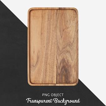 Vista superior da maquete da placa de madeira