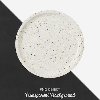 Vista superior da maquete de placa branca redonda padronizada