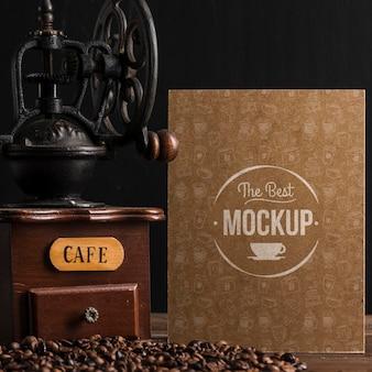Vista superior da maquete do conceito de café