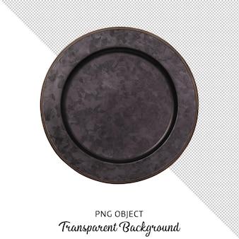 Vista superior da placa redonda padronizada isolada