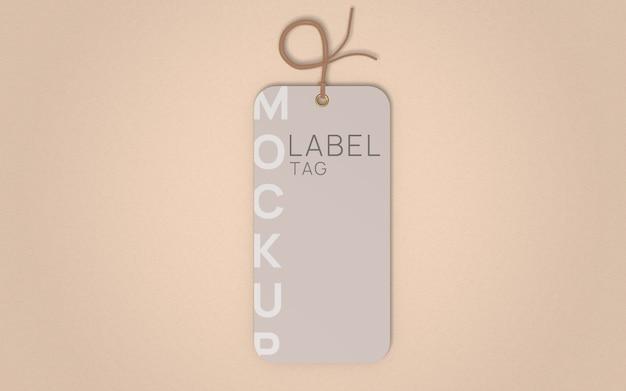 Vista superior de maquete de etiqueta de etiqueta de roupas