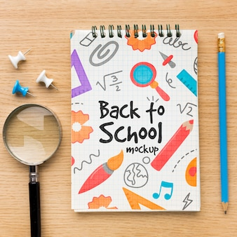 Vista superior de volta ao modelo de arranjo escolar