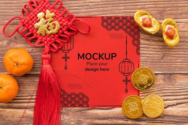 Vista superior do mock-up do conept chinês