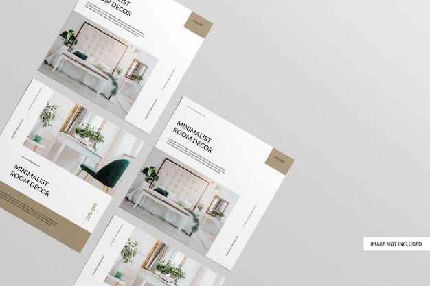 Vista superior do modelo square flyer