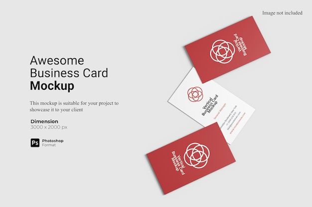 Vista superior - incrível design de modelo de cartão de visita isolado