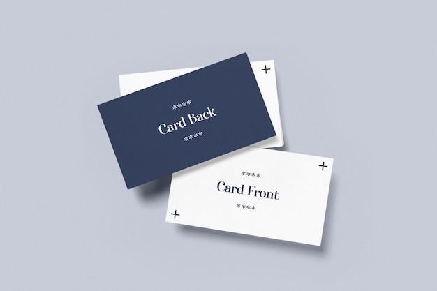 Vista superior maquete de cartão de visita