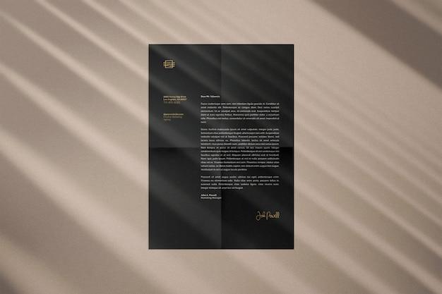 Vista superior maquete de papel a4