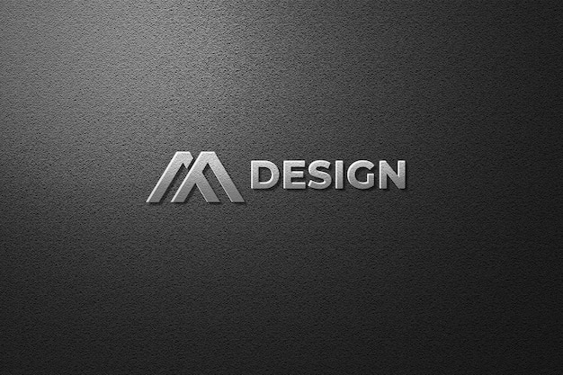 Vista superior na maquete do logotipo em renderização 3d