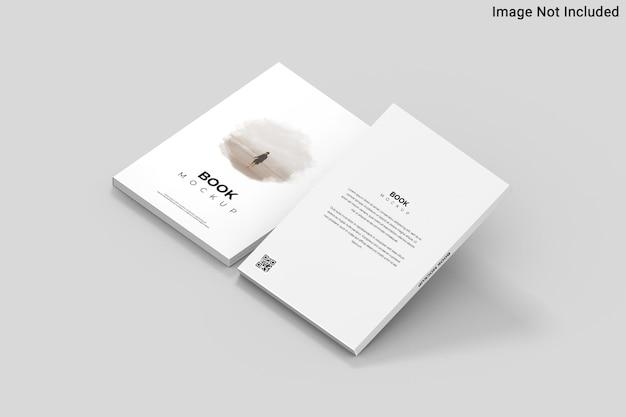 Vista superior no modelo de livro em renderização 3d