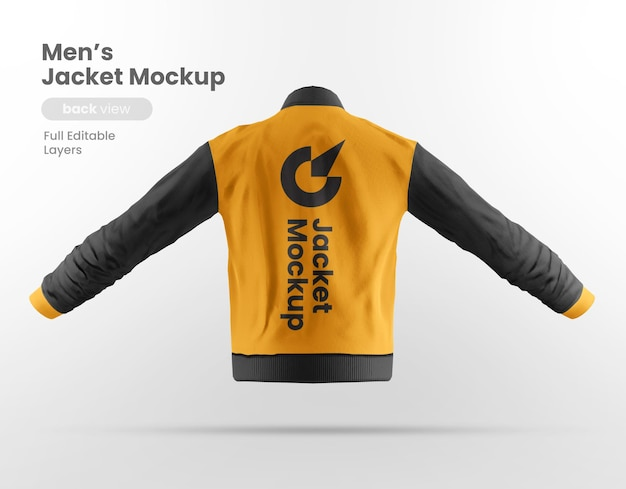 Vista traseira da maquete da jaqueta