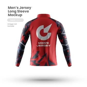 Vista traseira da maquete de camisa esporte