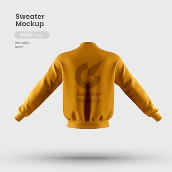 Vista traseira da maquete de suéter