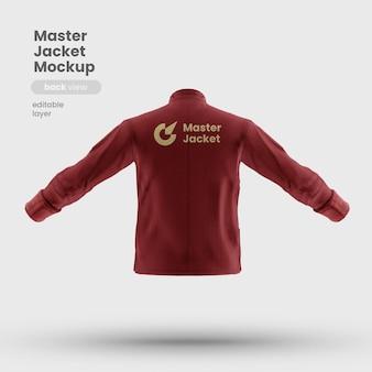 Vista traseira da maquete do uniforme da jaqueta