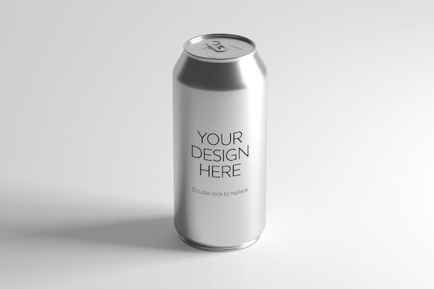 Visualização de maquete de uma lata de metal renderização em 3d