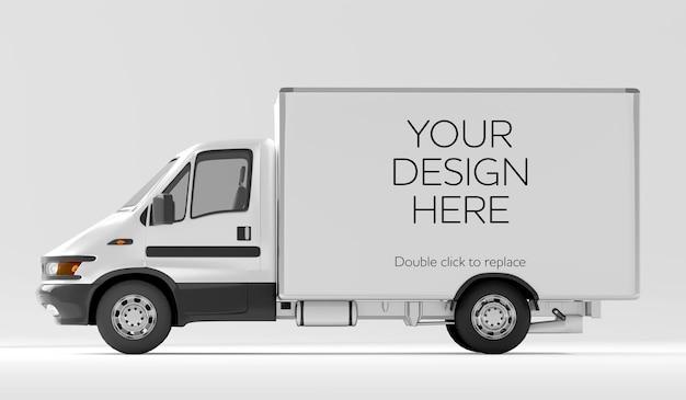 Visualização de maquete de uma série de veículos - renderização em 3d