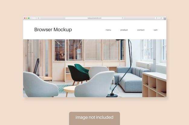 Visualização de uma maquete de tela do navegador
