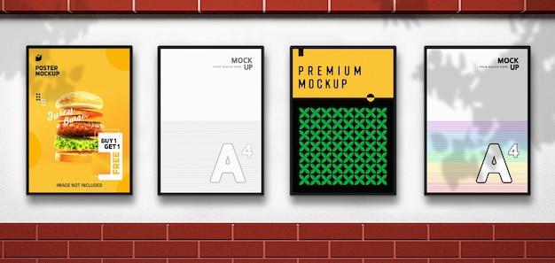 Vitrine de modelos de panfletos e pôsteres