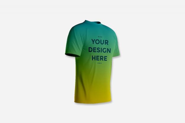 Vitrine frontal da maquete de t-shirt