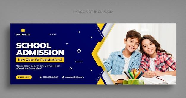 Volta às aulas mídia social banner da web e modelo de design de foto de capa do facebook