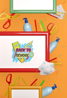 Volta para a escola conceito mock-up
