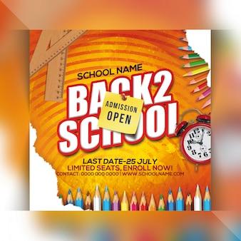Volta para escola festa flyer