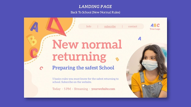 Voltar à página inicial do modelo da escola