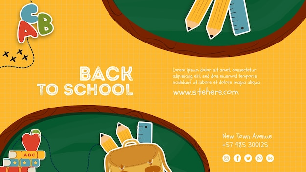Voltar ao modelo de cartaz de escola primária