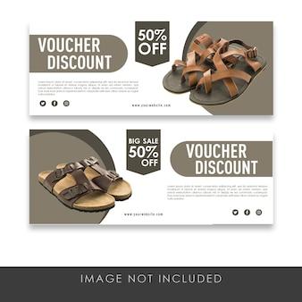 Voucher com desconto para todos os modelos de coleção de chinelos