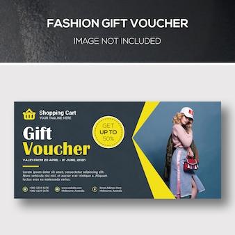 Voucher de oferta de moda