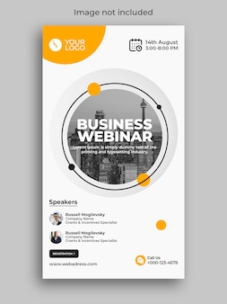 Webinar de negócios de marketing digital, conferência, história de mídia social no instagram