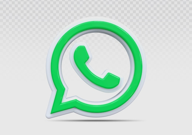 Whats app 3d icon render concept creative