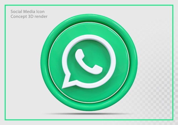 Whatsap icon 3d renderização moderna