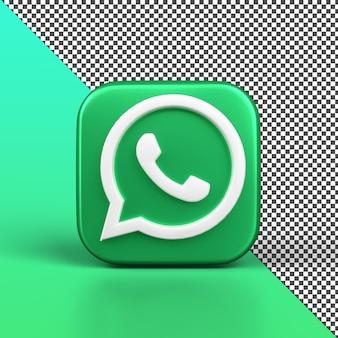 Whatsapp 3d ícone design isolado