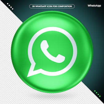 Whatsapp com logotipo verde ellipse 3d