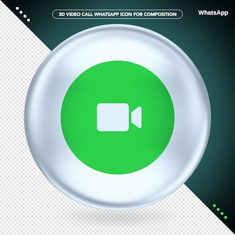 Whatsapp para videochamada ellipse white 3d