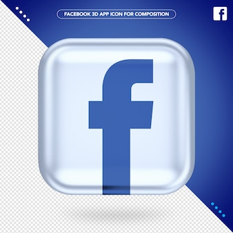 White facebook 3d app