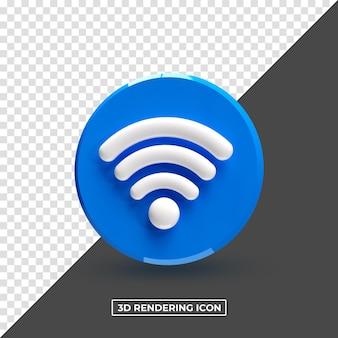 Wi-fi renderização 3d psd premium