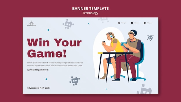 Win the game banner template