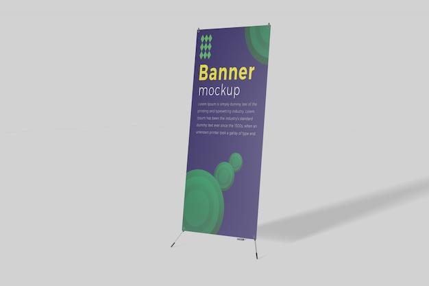 X banner mockup Psd Premium