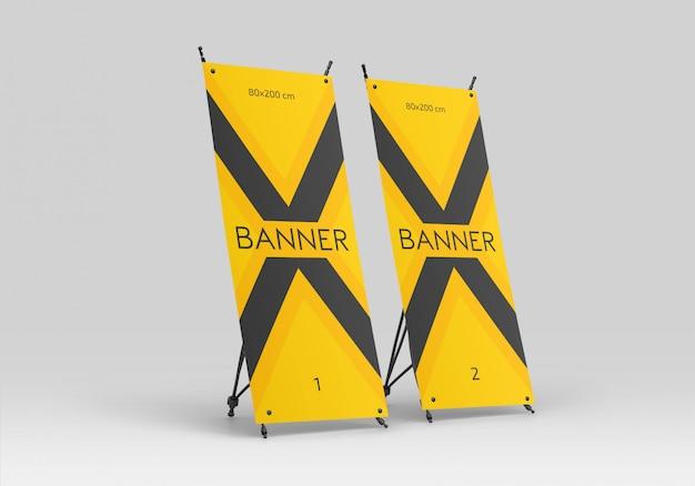 X maquete de banner