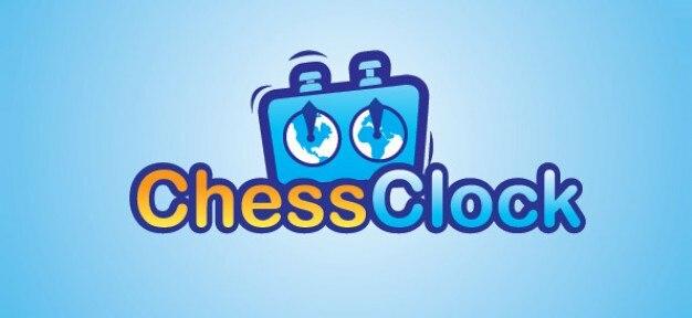 Xadrez livre design de logotipo relógio