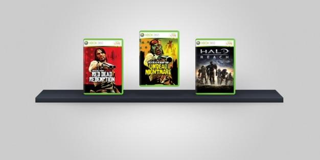 Xbox 360 cartões de jogo psd