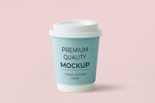 Xícara de café de papel azul